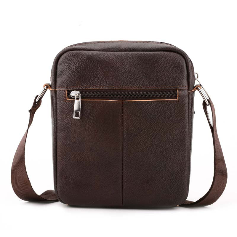 6b6551febf6d Genuine Brown Leather Bag Phone Passport Small Messenger Man Bag Men's  Quality Leather Travel Bags