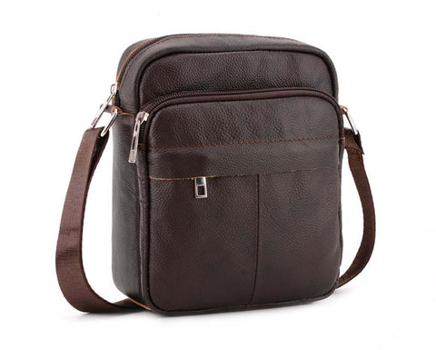 Genuine Leather Coffee Handbag Flap Shoulder Crossbody Small Messenger Quality Cell Phone HandBags