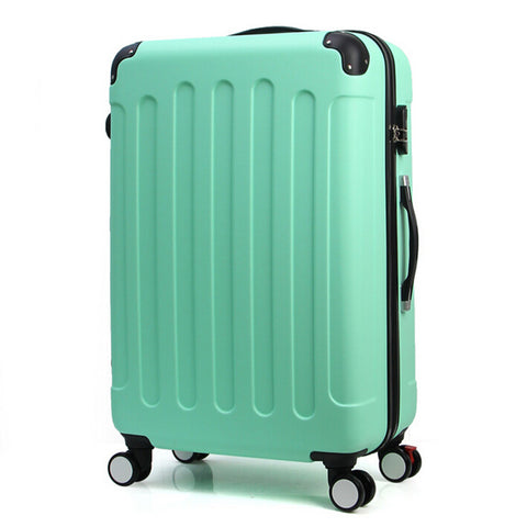 "Vintage Trolley Trunk Case Cabin Luggage Rolling Suitcase 20 24"" Retro Travel Suitcases"