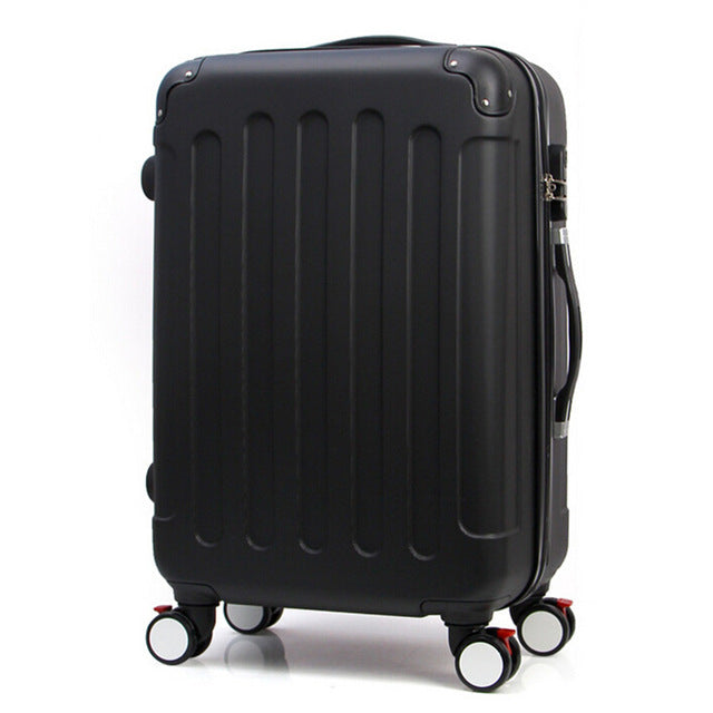 20 24in Rolling Luggage Suitcase On Wheels ABS Girl Trolley Case Travel Waterproof Extension Boarding Box