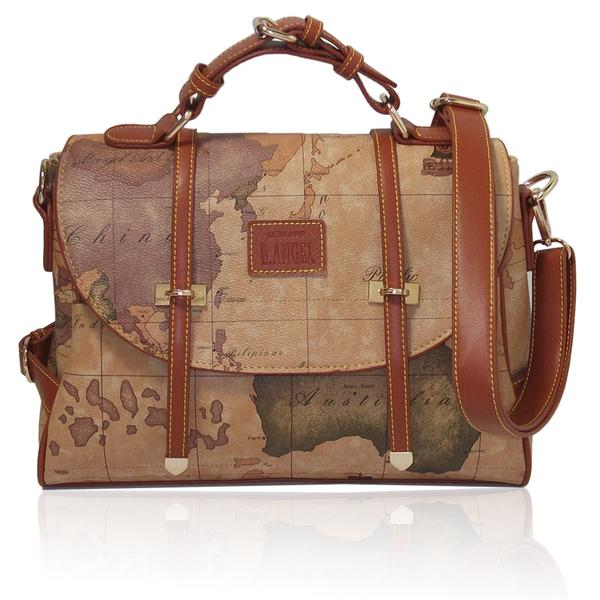 Vintage Travel Bag World Map Geometry Print Carry-On Shoulder Messenger on map shoes, map luggage, map boots, map crossbody, map skirt, map phone case, map jacket, map scarf, map white, map trunk, map suitcase, map wallet, map sweater,