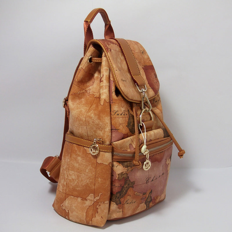 Vintage backpack world map travel bag carry on shoulder bag vintage backpack world map travel bag carry on shoulder bag handbags designer classic map rucksack gumiabroncs Image collections
