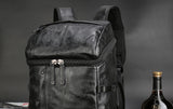 Quality Waterproof PU Black Leather Backpack Laptop Travel Bag Backpack Satchel Sac à dos Backpacks - Travell Well
