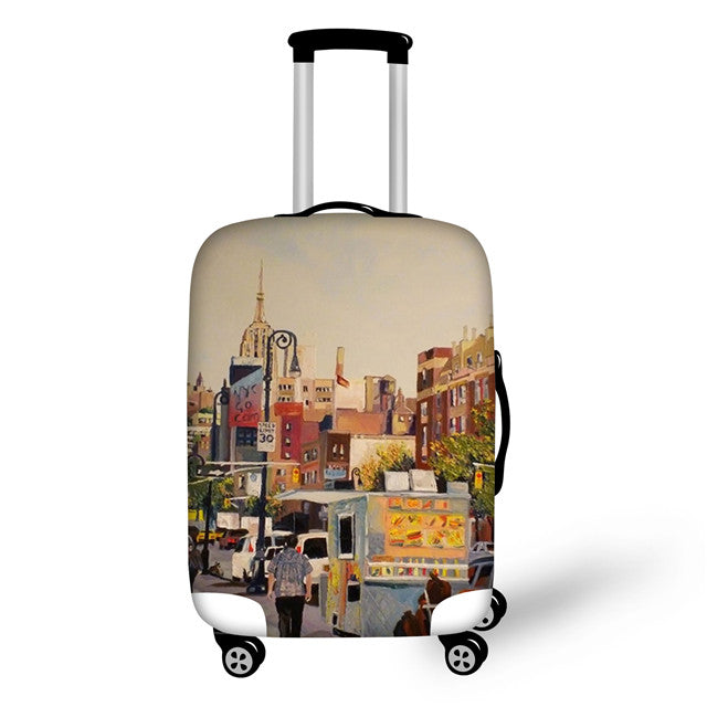 "Designer Paris Case Cover Scenery Elastic Travel Accessories for 18 to 30 "" inch Suitcase Luggage Protection Suitcase Covers - Travell Well"