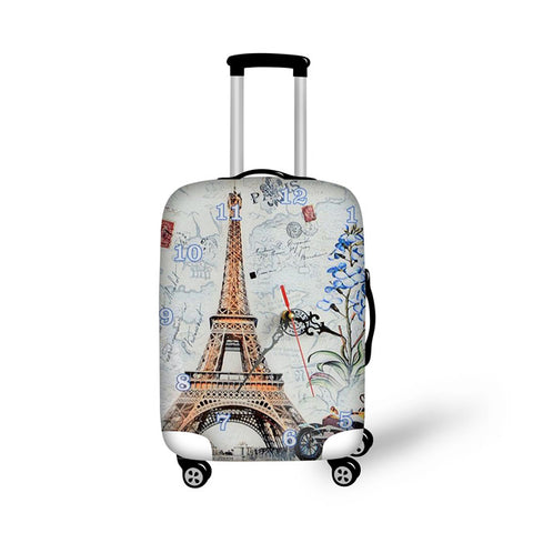 "Designer Trolley Case Cover Thicker Elastic Trunk Case Cover Travel Carry On Covers  S - M - L - XL 18 to 32 "" inch Elastic Suitcase Luggage Protective Travel Design Covers Trolly Case Colorful Suitcases Covers"