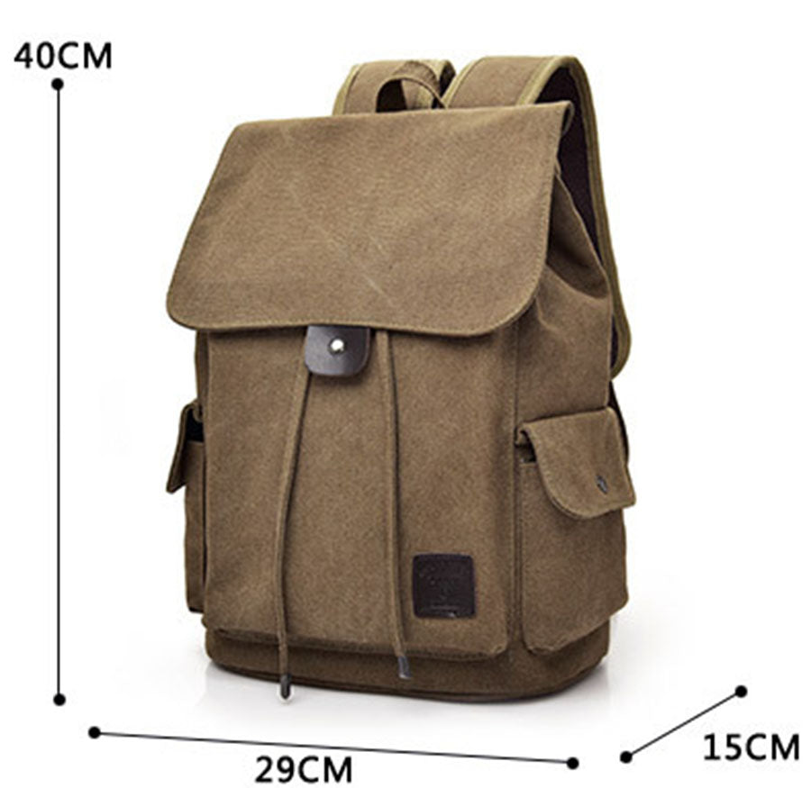 Perfect Backpack Bookbag Army Green Daypack Unisex School Bag Backpacks Casual Rucksack Canvas Satchel Sac à dos Women Men Mochila Daypacks - Travell Well