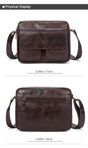 3ec2c44b27 Midsize Messenger Bag Genuine Leather Shoulder Bags Small Crossbody ...