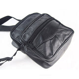 Men's Messenger Bags Genuine Leather Men Small Bag Casual Vintage Black Shoulder Bag Travel Passport Handbag Business Briefcase Mini Cell Phone Bags - Travell Well