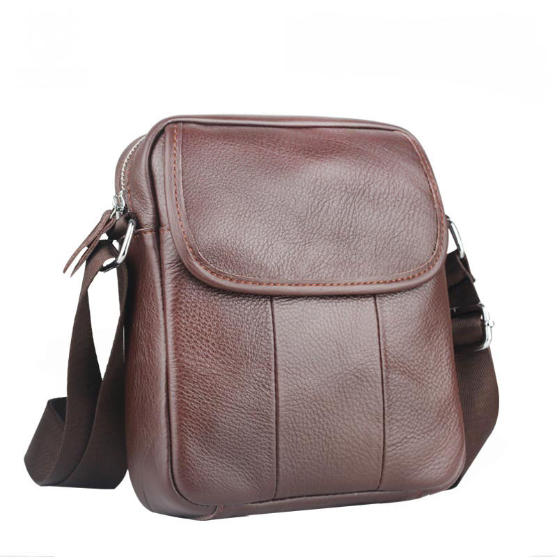 f76cf7f5f68e ... Brown Leather Mens HandBag Mini Shoulder Bags Casual Designer Handbag  Men Crossbody Shoulder Man Bags ...