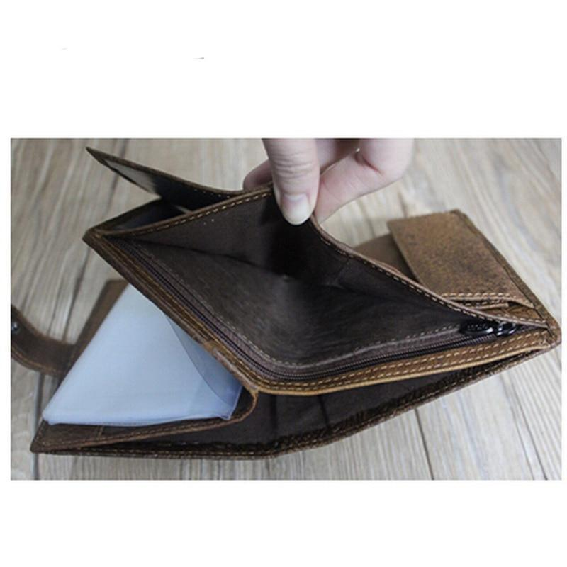 Alligator Patern Leather Pattern Male Bank ID Card Light Brown Holder Wallet - Travell Well