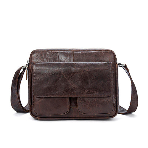 0e3343a6013 Mulifuctional Midsize Messenger Bag Genuine Leather Shoulder Bags Small ipad  Flap Solid Men s Crossbody Bag Messenger Bags Men Women Leather Travell Well