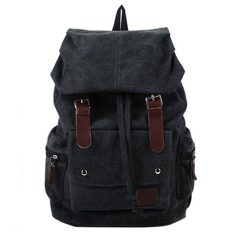 Travel Canvas Backpack Military Rucksack Mochila Khaki Black Army Green Travell Well