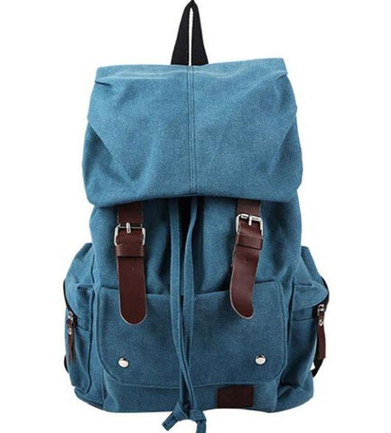 Canvas Backpack Vintage Khaki Rucksack Sac à dos Mochila Tan School Bag Laptop Carry-On Travel Pack Bag