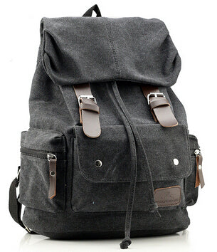 Top Canvas Backpack Vintage Rucksack Sac à dos Women Men Mochila School Bag Laptop Blue Black Brown Army Green Travel Bags - Travell Well