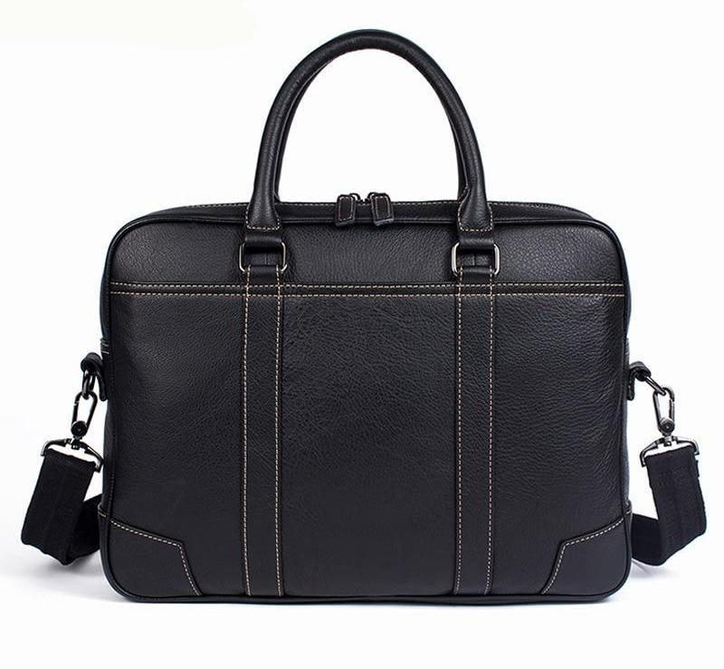 5c76916f86a75 Briefcase Business Tote Mens Genuine Leather Laptop Business Briefcase –  Travell Well
