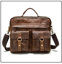 Genuine Leather Camel Yellow Briefcase Vintage Bag Stylish Shoulder Laptop Messenger Bags - Travell Well