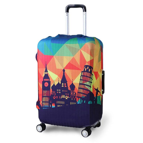 Travel Luggage Designer 3 Piece Silver Spinner Suitcase Set Dark Gray, Red, Gold Luggage Sets