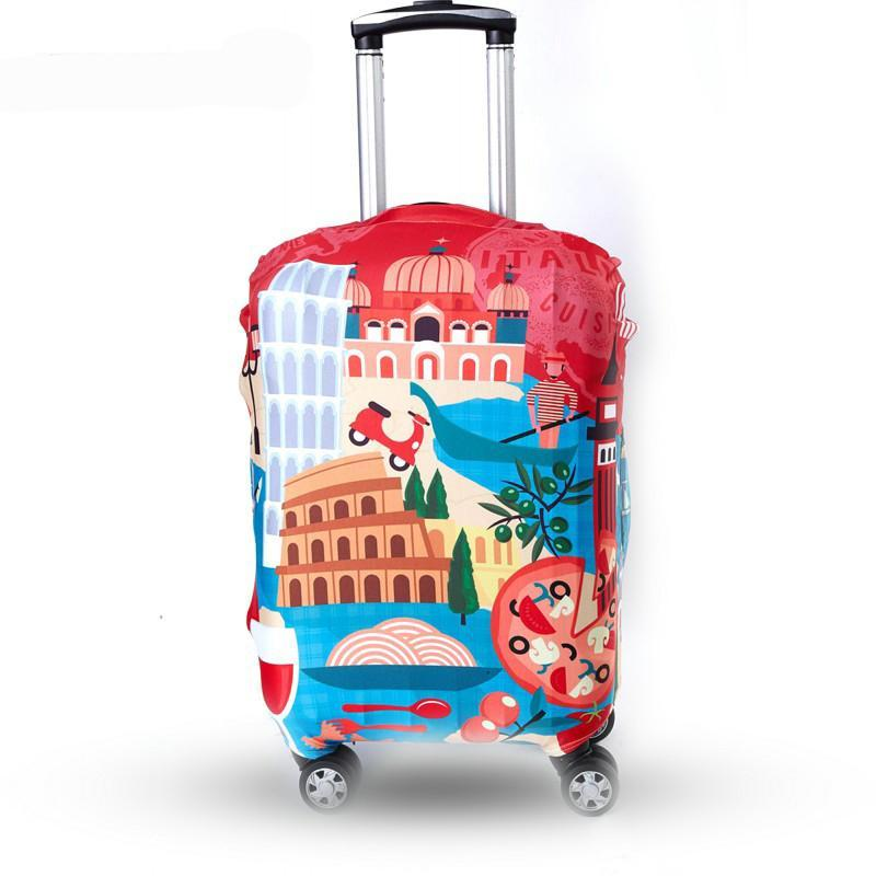 "Designer Trolley Case Cover Elastic Travel Accessories S - XL 18 to 32 "" inch Elastic Suitcase Luggage Protection Travel Design Suitcase Covers Trolly Case Colorful Suitcases Protective Covers - Travell Well"