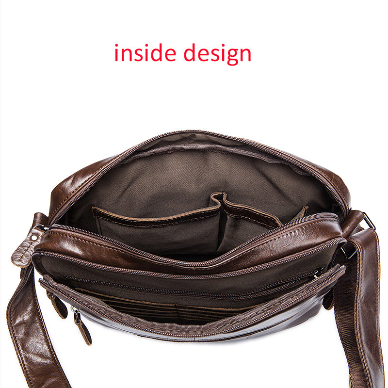 bfd59b6a35b ... Mens Shoulder Bags Genuine Leather Crossbody Bags Mid-Size Small  Briefcase Messenger Men Leather Bag ...