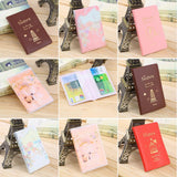 Kids Travel Passport Holder Case Protective Cover Kids Protective Covers Girl Pink Red Wallet - Travell Well