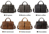 Designer Genuine Leather Briefcase Laptop Bag 14