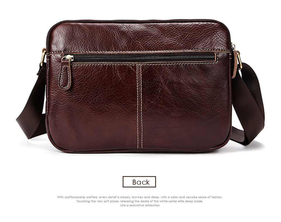 Briefcase Messenger Camel Brown Crossbody Bag Genuine Leather Men Women Bag Shoulder Bags Zipper Mid Size Messenger Bag Leather Shoulder Satchels Travell Well - Travell Well