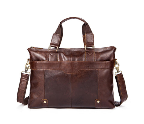 Designer Coffee Leather Messenger Bag Genuine Handbags Crossbody Bags Leather Shoulder Laptop Bags