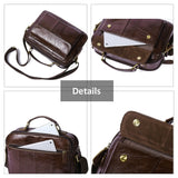 Messenger Bag Genuine Leather Shoulder Crossbody Bags Handbags Zipper ipad Tote Bag Travell Well - Travell Well