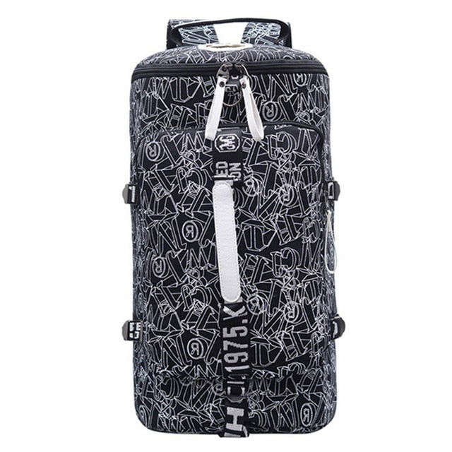 Tropical Print Backpack Bag Travel Gym Combo Bags Carry-On Travel Work Sport School Bags - Travell Well