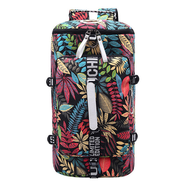 Tropical Blue Backpack Bag Travel Gym Combo Bags Waterproof Carry-On Travel Bags - Travell Well