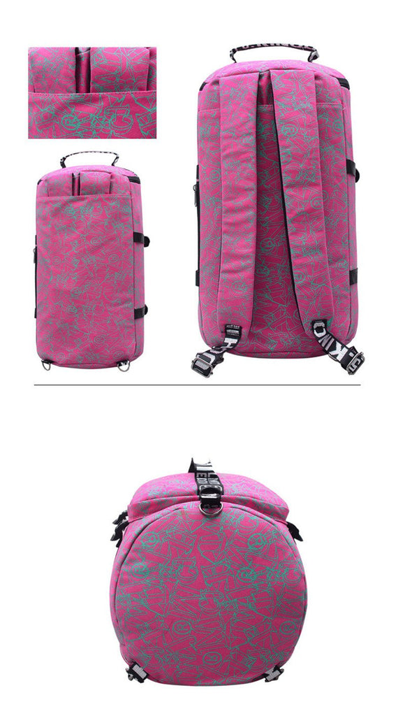 Pink Tropical Backpack Bag Travel Gym Combo Bags Carry-On Travel Work Sport School Bags - Travell Well