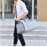 Travel Garment Bag BEST Weekender Hanging Suit Duffel Gym Bag Shoe Organizer Cylinder Shoulder Bags - Travell Well