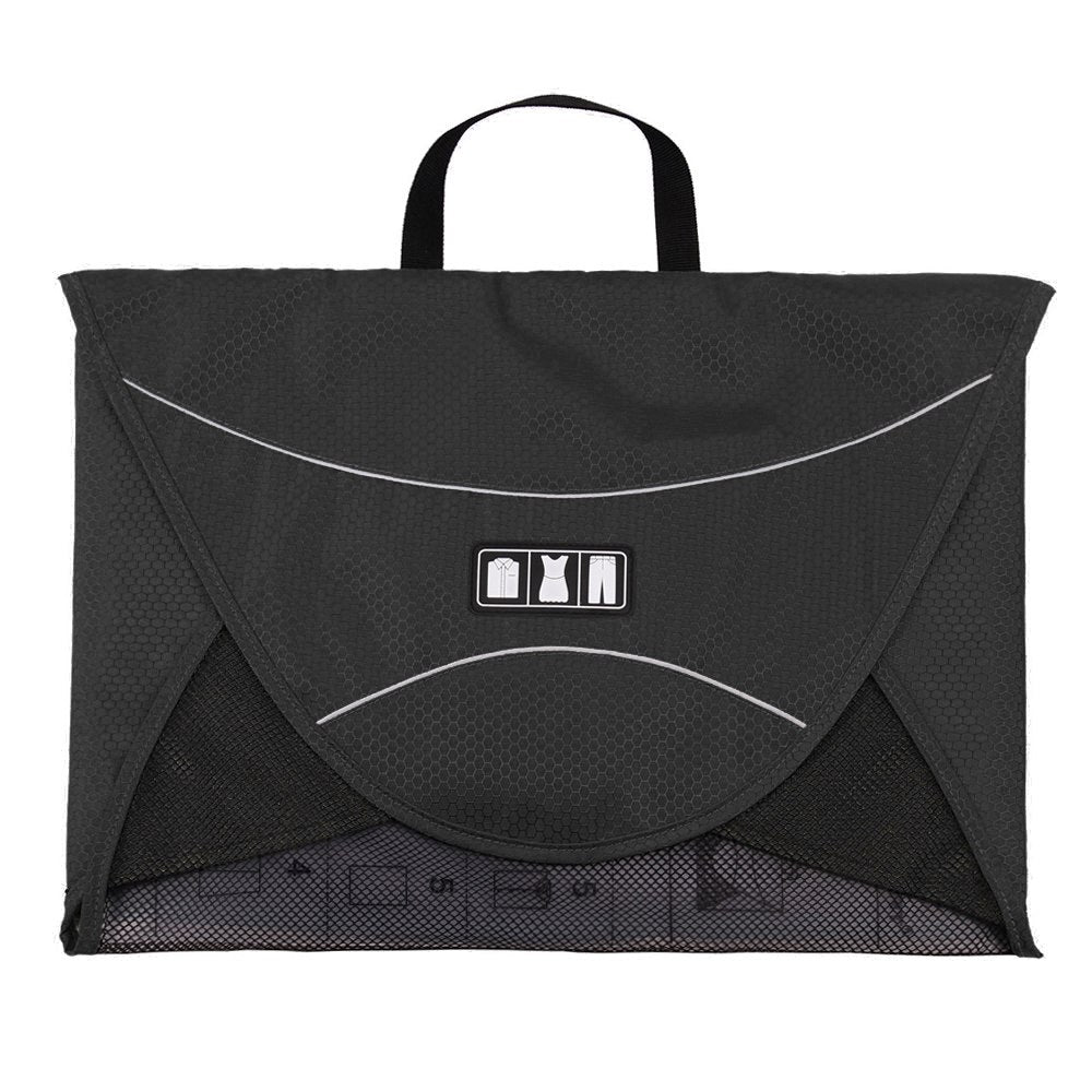 Shirt Travel Bags for Clothes Shirt Nylon Luggage Black Storage Bag Travel Pack Shirts Bag - Travell Well