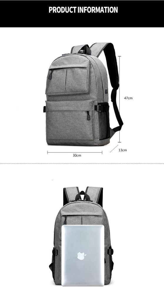 USB Charging Backpack Rucksack Daypack Oxford Canvas Backpacks - Travell Well