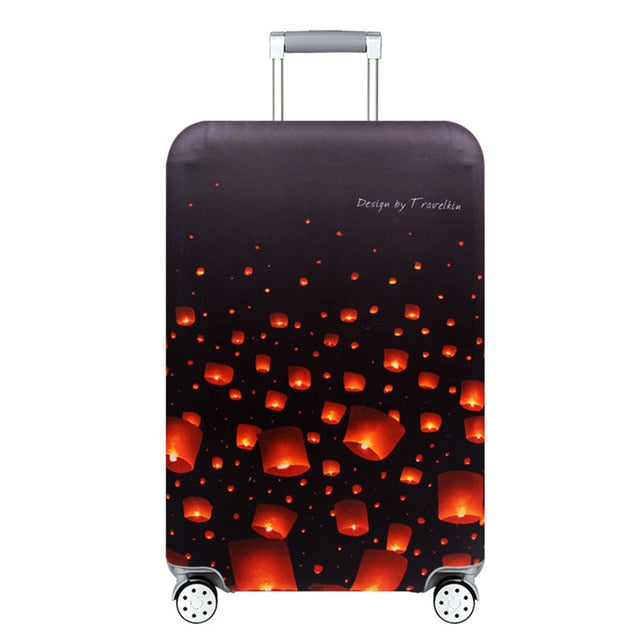 World Map Travel Luggage Suitcase Trolley Carry On Protective Case Trolley World Map Suitcase Cover - Travell Well