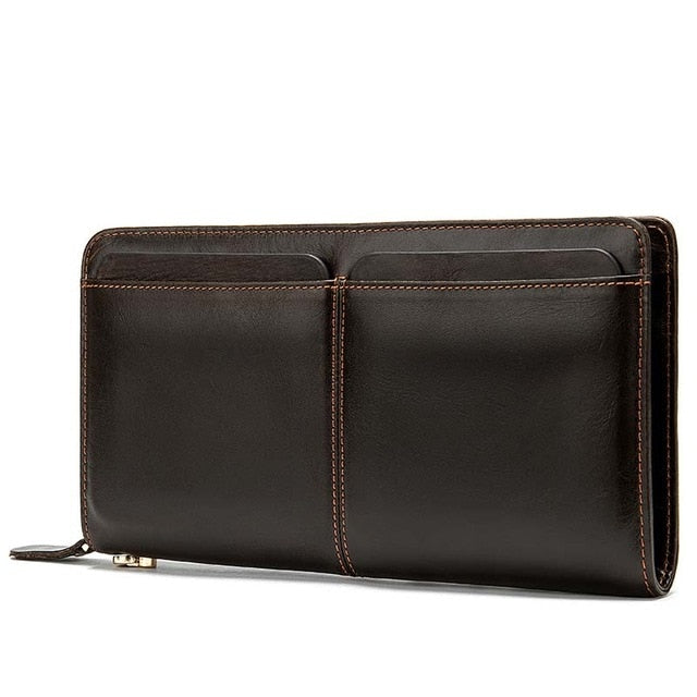 Leather Long Wallet Clutch Phone Card Holders Purse - Travell Well