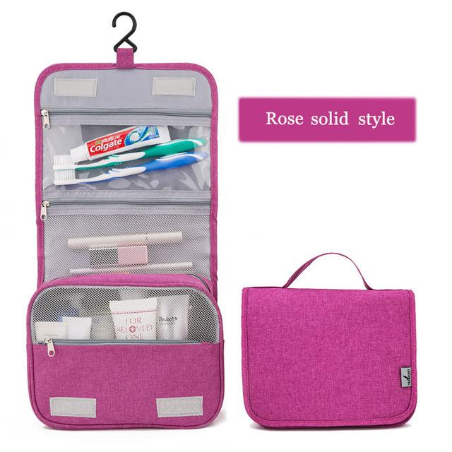 Travel Organizer Portable Waterproof Cosmetic Toiletry Makeup Bag Large Women Men Storage Bags - Travell Well