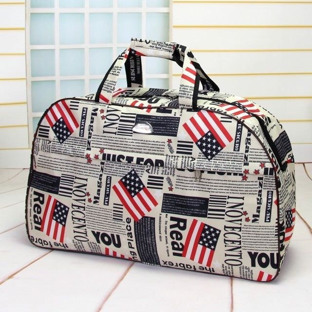 Travel Bag Carry-On Waterproof Weekender Suitcase Travel Bags Canvas Luggage Top Hangle Duffle Bags - Travell Well
