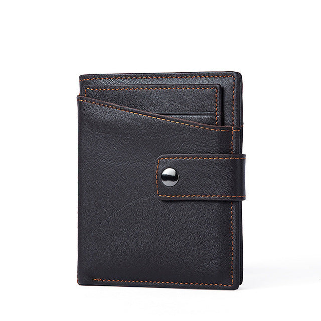 Genuine Leather Wallets Men's Mini Holder Wallet Clutch Man Coin Pouch Leather Multi-Colors Wallets - Travell Well