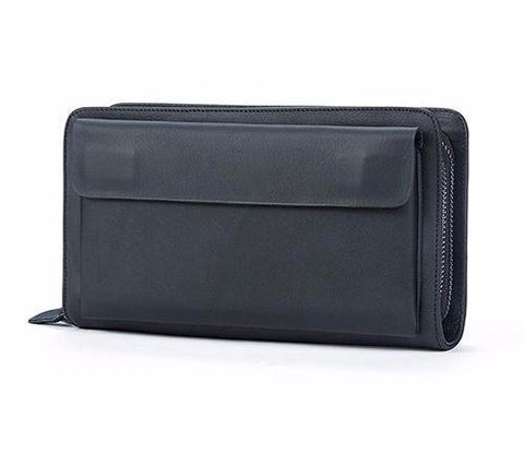 Genuine Leather Man Wallet Card Holder Credit Card Coin Large Capacity Clutch Men Long Wallets