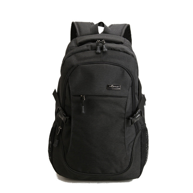 Designer Gray Backpack Rucksack USB Charge Anti-theft Waterproof Backpacks Men Women Computer Bags - Travell Well