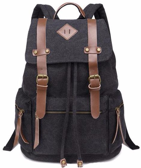 54546c06a New Canvas Vintage Backpack Rucksack Leather Military Men Women's School  Bag Mochilas Laptop Backpack Escolares Multi-Colors