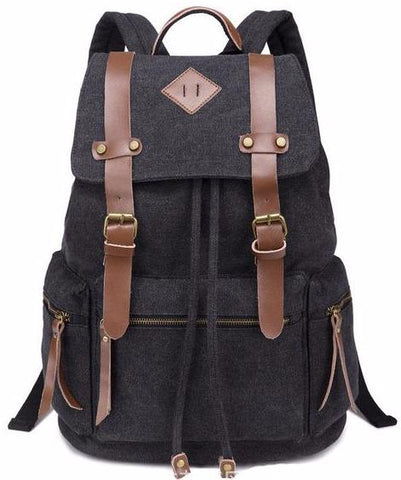 Travel Canvas Backpack Messenger Military Vintage Rucksack Satchel Travel Bag Black | Green | Khaki