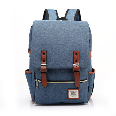 Canvas Backpacks Vintage Women Backpacks Teenage Girls School Bags Large High Quality Mochilas Escolares New Fashion Men Backpack - Travell Well