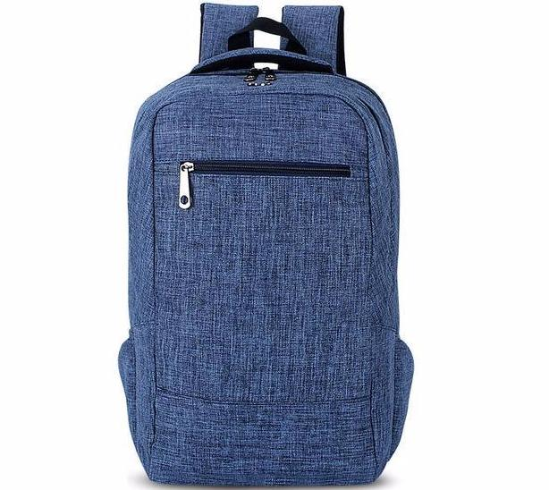 Blue Canvas Backpacks Women Men School Bags Casual Travel Laptop Bags Rucksack - Travell Well