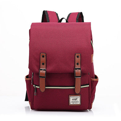 Blue Canvas Backpacks Vintage Women Backpacks Teenage Girls School Bags Large High Quality Mochilas Escolares New Fashion Men Backpack - Travell Well