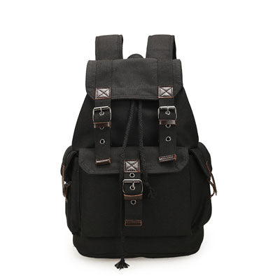 Designer Canvas Travel Backpack Coffee Brown Rucksack Leather Trim Multi-Functional Vintage Travell Well Quality Backpacks
