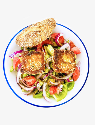 CC'S KITCHEN: GREEK SALAD WITH ROSEMARY FRIED FETA