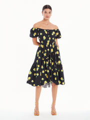 BARDOT FLOUNCE DRESS