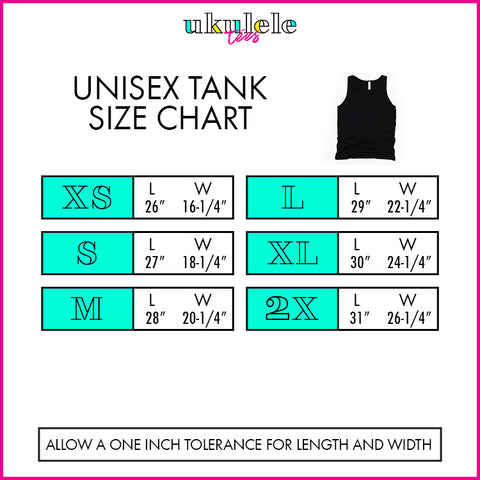 Unisex Tank Top Size Chart
